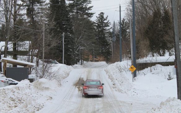 <p>The smaller roads were still snow-covered, which usually made them smoother because the ice filled in any pot-holes.</p>