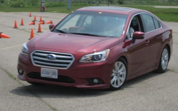 2015 Subaru Legacy - cornering