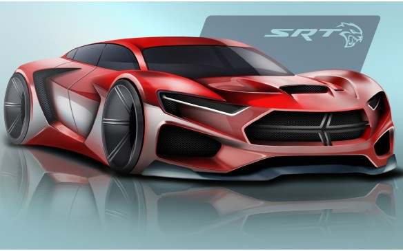 The first-place winning sketch for the FCA US Drive for Design competition, designed by Ben Treinen of Archbishop Moeller High School in Cincinnati, Ohio.