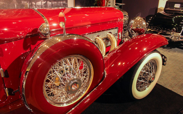 <p>In 1933, the car went back to the factory for an upgrade to Model SJ engine specs with a supercharger – a feature that was not available when it was built – as evidenced by the iconic side pipes.</p>