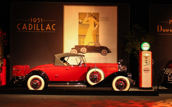 <p>Classic car exhibit showcases the art in advertising as well as in the cars</p>