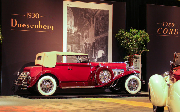 <p>Arguably the grandest of the Grand Classics, this Duesenberg was originally owned by band leader Paul Whiteman. It was updated to its present Convertible Victoria form by the coachbuilder Rollston in 1933.</p>