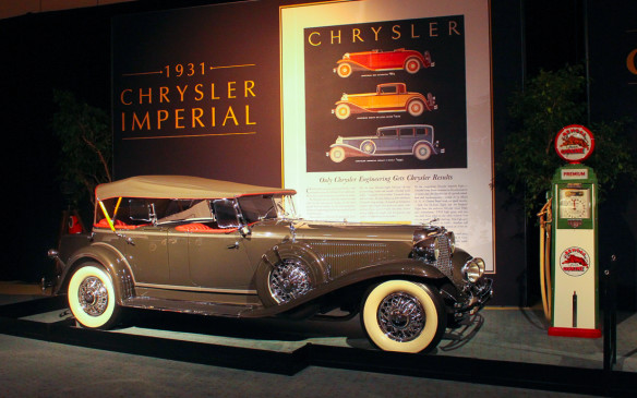 <p>At the top of but set apart from the Chrysler lineup, the 1931 Imperial was intended to compete at the Cadillac, Lincoln and Packard level. It was designed by Cord L-29 designer Al Leamy – hence the super-long hood – and executed by LeBaron making it a style leader of its day. It also featured an all-new straight-eight engine that was a focal point of the car's advertising.</p>