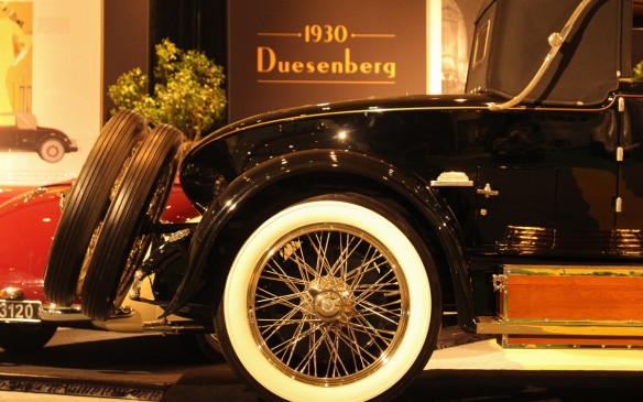 <p>No this is not a 1930 Duesenberg. The sign is for a car in the background. This is the LeBaron boattail bodywork on the 1928 Isotta Fraschini Tipo 8A SS.</p>