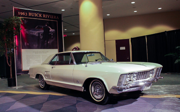 <p>Although now more than 50 years old, the newest model in the exhibit (along with a Studebaker Avanti of the same vintage) was this 1963 Buick Riviera from the GM Heritage Center. Buick applied its venerable Riviera nameplate to this all-new model as competition for the Ford Thunderbird. The sporty elegance of itss styling was a departure from the GM norm and a forerunner of things to come from the corporation. Its advertising reflected both those qualities.</p>