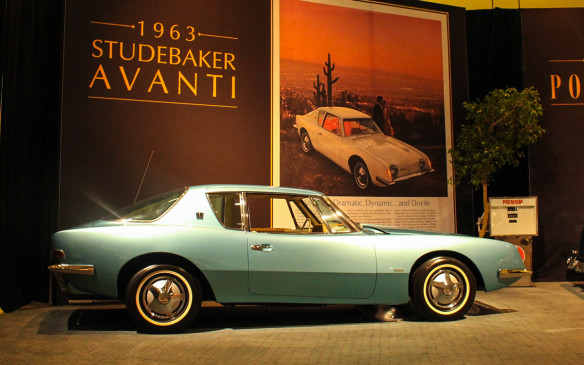 <p>Studebaker again upset the styling status quo with the 1963 Avanti, the brand's entry point into the lucrative personal luxury market. Its rakish coke-bottle styling by the Raymond Loewy studio, which was also responsible for the '53 Starliner, was unlike that of not just any other Studebaker but any other car. Words aside, its image-rich advertising, among the first to use photographs rather than illustrations, kept the focus on that unique appearance. </p>
