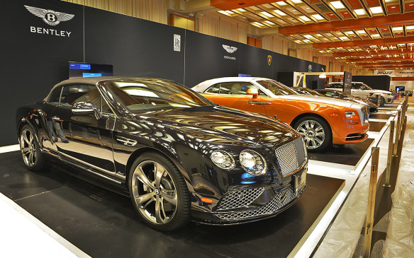 <p>Despite occupying one of the smaller spaces at the Canadian International Auto Show in Toronto, exotic vehicles often attract the most attention. This year is no different, with both production cars and Indy 500 race cars sharing space next to each other.</p>