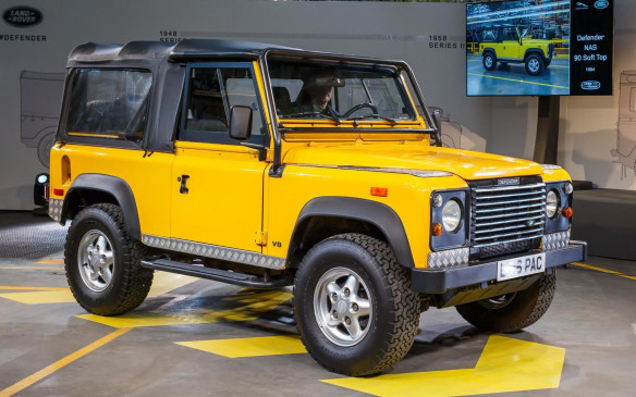 <p>Defender was introduced in 1990, primarily because Land Rover had introduced a new vehicle (Discovery) the previous year. During this final stage in its life, the vehicle made gains in powertrains, drivetrains and interior comfort, with the biggest change being the change from sideways facing (jump) rear seats to conventional benches.</p>