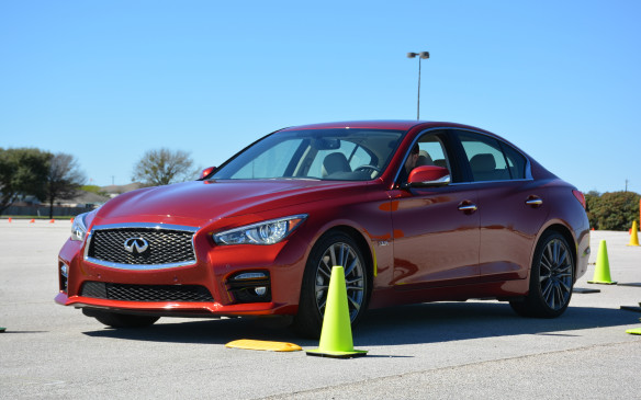 <p>The Q50's updated Dynamic Digital Suspension can adapt to various road conditions. I was impressed with its ride comfort and minimum body roll throughout the ride and the car was able to stay composed regardless of the terrain or man-made speed bumps it came across. The suspension firms up its dampers in Sport and Sport-plus mode.</p>