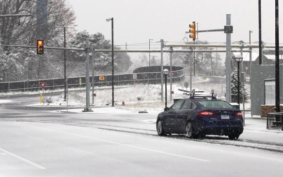 Ford winter autonomous driving test