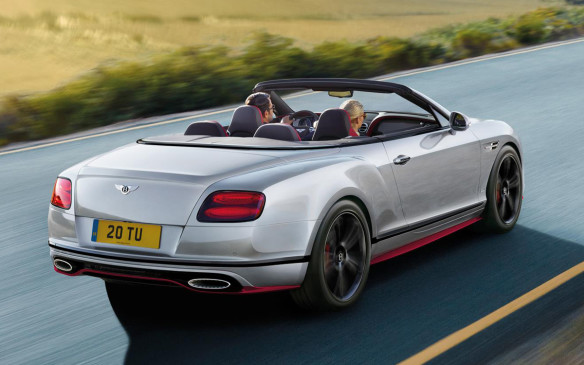 <p>Bentley Continental GT Speed Black Edition convertible</p>
