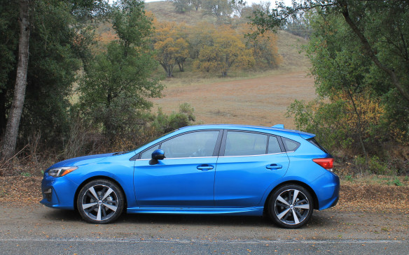 <p>We switched to the 5-door, which was in the top-of-the-line Sport-Tech trim. It sells for $29,495 as a hatchback, and has 18-inch wheels and a firmer sport suspension. It also has active torque vectoring, sending power to the outside wheels around turns, for better cornering.</p>
