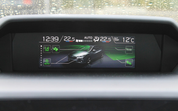 <p>Our tester was also equipped with the optional Technology package. This is a $1,500 extra that includes Subaru's third-generation Eyesight system. It offers lane-keeping assist and high-beam assist and even automatic braking in reverse if there's an obstacle in the way.</p>