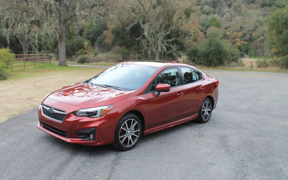 <p>The sedan we drove first was the Sport version, which starts at $24,395 with a 5-speed manual transmission. A continuously variable transmission, which came with our tester, is an extra $1,300.</p>
