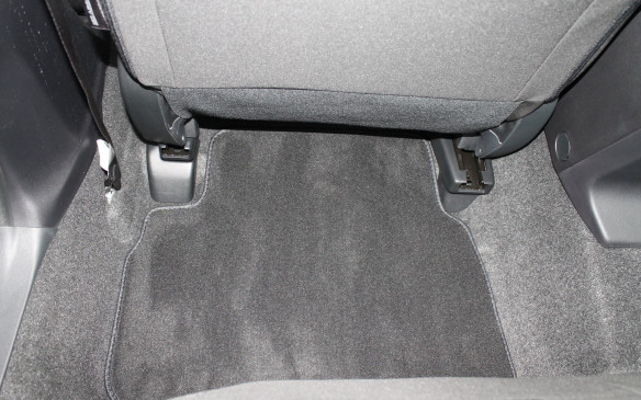 <p>The redesigned seats mean there's even some extra, wider space for the feet of the rear passengers to be tucked underneath.</p>