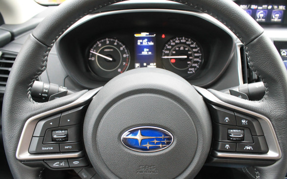 <p>All Imprezas also come with a paddle-shifted CVT that's designed to mimic a 7-speed automatic, though the cheaper manual transmission is available on all but the Sport-Tech trim.</p>