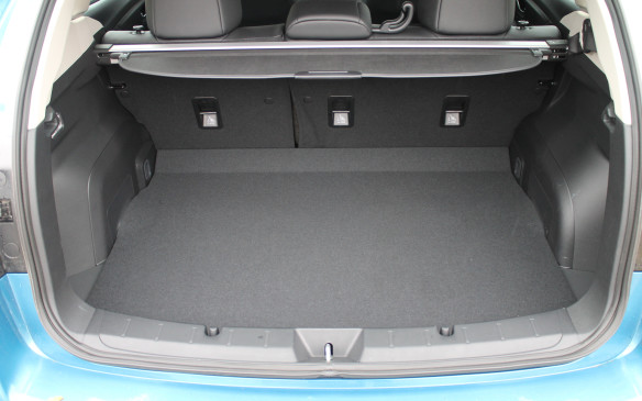 <p>The 5-door is more versatile than the sedan, with 589 litres of cargo space behind the rear seats, and 1,566 litres when the seats are folded flat. Its hatch opening is also wider for easier loading.</p>