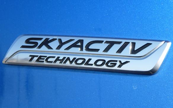 <p>Mazda CX-3 Skyactiv badge</p>