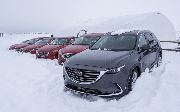 <p>The heavy snowfall did, however, create optimum conditions to test the i-ACTIV AWD system. The AWD vehicle lineup consisted of the 2016 CX-5 and the recently introduced 2016 CX-3, as well as some competitive products.</p>
