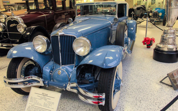 <p>This front-wheel-drive 1932 Cord L-29 was not only built in nearby Connersville, Indiana, it was the pace car for the 1932 Indianapolis 500.</p>