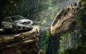 <p>Mercedes-Benz GLE Coupe with Indominus Rex</p>