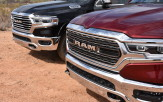 <p>Although this Ram's outer skin is totally new, the designers have retained the Big Rig look that made the first-generation Ram so distinctive when it hit the road in 2009. However, the familiar crosshair grille is gone, a design cue that dated back to the Dodge-branded days. The new grille is a larger, more aggressive, forward-leaning opening with the RAM badge boldly displayed across the centre. The actual grille design varies with the trim level, with six different styles available.</p>
