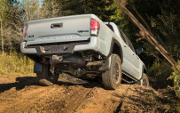 <p>Thanks to a combination of the special suspensions, skid plates, unique tires and modern electronics, the TRD Pro editions of the Tacoma and Tundra (no 4Runners were available) proved more than capable of crawling up and inching down slippery severe slopes and wailing through a high-speed slalom with equal aplomb.</p>