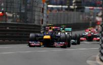 Mark Webber leads at Monaco