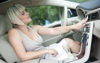 Woman enjoying air-conditioning