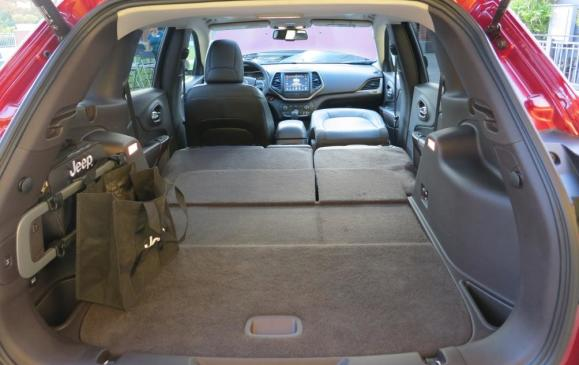 2014 Jeep Cherokee - cargo area, rear seats folded