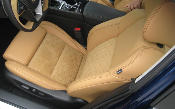 <p>Although all models are fitted with leather-trimmed NASA-inspired Zero Gravity front seats, which proved to be extremely comfortable and supportive during our media drive around Esterel, Quebec, the sports-oriented SR trim level includes premium Ascot leather appointments with diamond-quilted camel Alcantara inserts in the seats and door panels. The contrasting black and camel décor provides an especially premium feel to the cabin – and looks fantastic.</p>