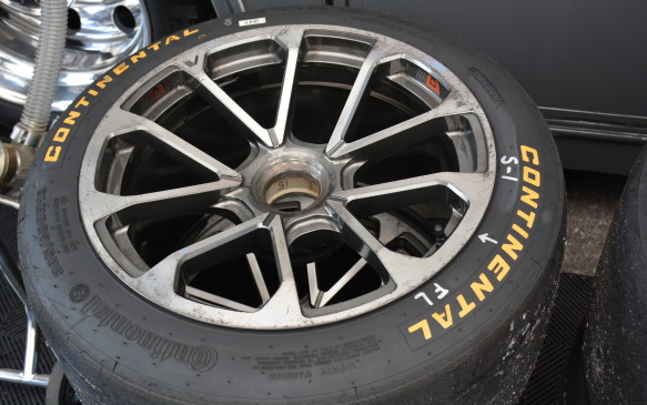 <p>The prototype race car has the wheels, deep wheel arches and sharp feature lines that resemble those of the V-Series road cars. Another key design touch from Cadillac road cars is the brand's signature vertical LED lights on the front and rear, which stand out on track as well as on the road.</p>