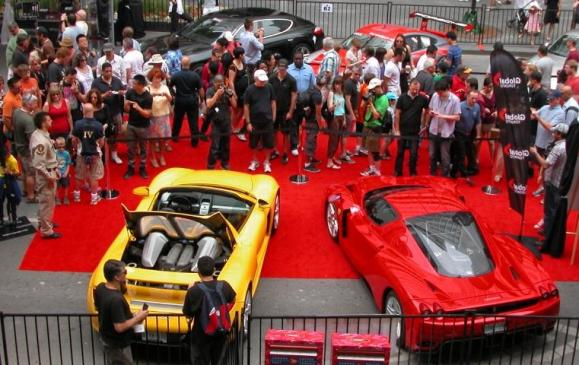 Yorkville exotic car show - Ferraris