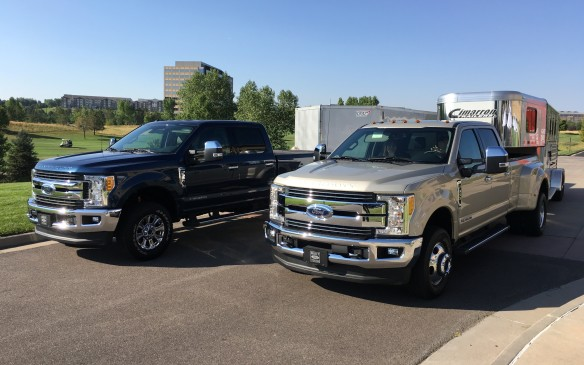 <p>Pricing for the 2017 Ford Super Duty starts at $39,849 for the base F-250. The base F-350 starts at $41,849 and the F-450 has a starting price of $65,599. Trim levels include the base XL, XLT, upscale Lariat and two premium luxury models: the King Ranch and Platinum. Production shifts into high gear at the Louisville, Kentucky assembly plant this month, with the trucks scheduled to start arriving at dealers later in September.</p>