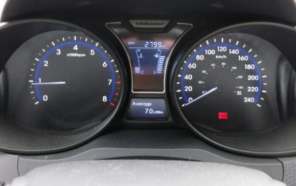 2013 Hyundai Veloster Turbo - instrument panel gauge cluster