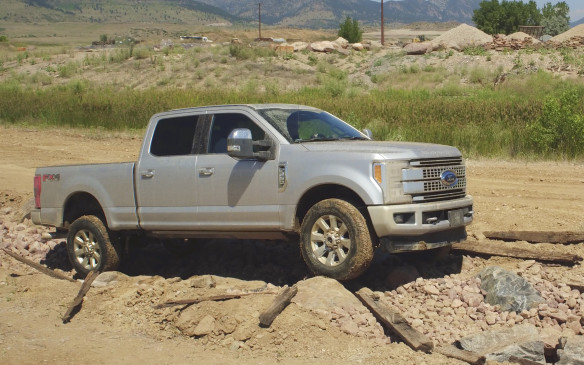 <p>The new Super Duty is fully capable of rugged off-road use when appropriately equipped for such challenges. In four-wheel drive mode, it readily took on all types of obstacles during an off-road test drive, from washed out bridges and jagged rocks to a sloppy mud pit.</p>