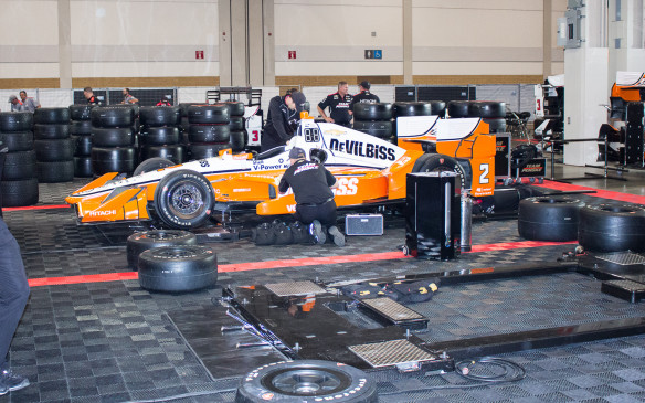 <p>There's plenty of room beside the transporters to perform all the work necessary on the cars – and to store the vast quantity of tires needed to get through a race weekend.</p>
