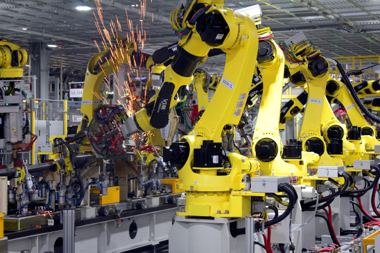 <p>Whether its stamping, welding, painting or assembly, the robotics widely employed at KMM for greater efficiency. There are some sections that use only robotics and others where humans work along with them.</p>