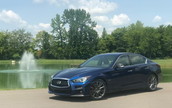 <p>In Canada, the Q50 is only sold with all-wheel drive. In the U.S., it's a $2,000 option and the car we drove here at Nashville was RWD. The day was dry, though, and the road surfaces were hot, so traction was never an issue and the RWD was indiscernible.</p>