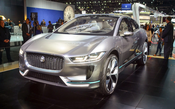 <p>Jaguar was not known was not a player in the electrification game, until the British brand showed up in LA with the I-Pace SUV concept. The I-Pace is Jaguar's first-ever all-electric concept and it's said to have 354 kilometres of electric range.</p>