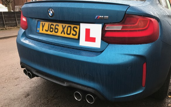 <p>After the embarrassment of scraping the rims, a British friend suggested we acknowledge our lack of driving ability with a Learner plate for novice drivers, but everyone agreed it looked out of place on the M2.</p>