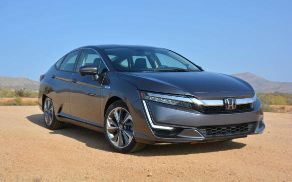 <p>According to Honda Canada, the Clarity should run on electricity 90% of the time. This, of course, only occurs if the sedan starts off fully charged. It takes 2-to-3 hours to charge at a Level 2 charging station.</p>