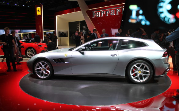 <p>Ferrari also introduced the GTC 4LussoT, which is a more practical performance coupe – if any Ferrari can be called practical. Its 3.9-litre V-8 engine is good for 610 hp, and it will accelerate from zero-to-100 km/h in less than four seconds.</p>