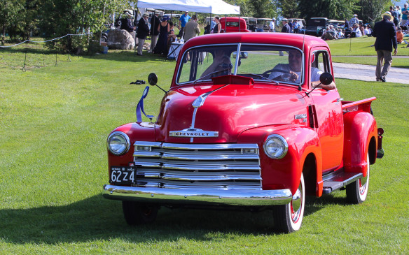 <p>The winner in the highly-competitive pickup class was this 1950 Chevrolet 1300 5-window.</p>