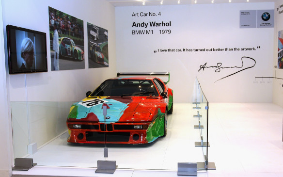 <p>BMW Art Car #4, a 1979 BMW M1 was painted by iconic American pop artist Andy Warhol. It was also displayed in the VIP lounge at Art Basel Miami Beach in December, 2013.</p>