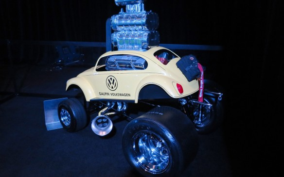 <p>The Zinger VW is a quarter-scale Beetle with a full-sized supercharged engine blasting out of the hood - er, roof! It started as a clay model and finished in fiberglass. End-to-end, side-to-side and top-to-bottom, two Volkswagen Zingers fit in the space of a full-scale Volkswagen. This is just one of many Zingers, a collection of cars built solely for promotional purposes by a custom car builder not long out of his teens.</p>