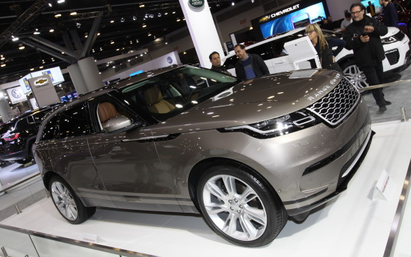 <p>Range Rover chose Vancouver for the North American debut of the mid-size Velar, first shown at Geneva last month. Notably sleeker than the larger Range Rovers, the Velar slots between the Range Rover Sport and Evoque in the lineup/ It is expected to appeal to the urban crowd who want high style with capability.</p>