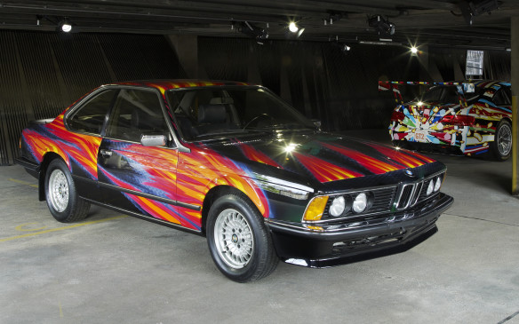 "<p>Austrian multi-media artist Ernst Fuchs calls his creation on a 1982 BMW 635i CSi Art Car 'Firefox on Harehunt'. He says it represents a hare racing across a motorway at night and leaping over a burning car. ""It tells me its colors, I read them in its lines and shape, I hear its speedy call and can already see the handsome hare leaping through flames of love, driving away fears."" If he says so!</p>"