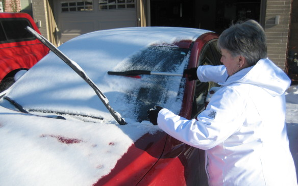 <p>Don't overlook brushing snow away from the air intake vents below the windshield – this ensures air can be drawn into the car's ventilation system, helping minimize the possibility of the interior glass fogging up.</p>