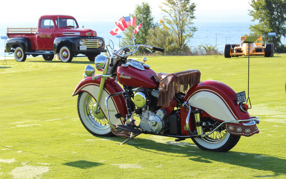 <p>My favourite motorcycle of the many on display was this 1958 Indian Chief, which perfectly evokes the period of its manufacture.</p>